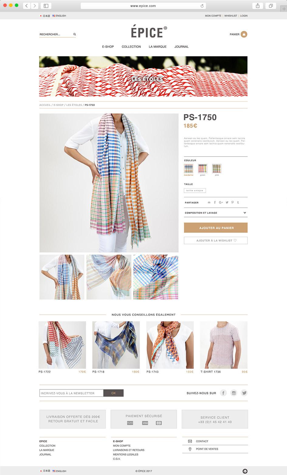 Page produit e-shop